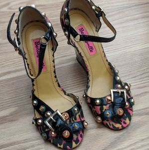 Betseyville Studded Wedges.